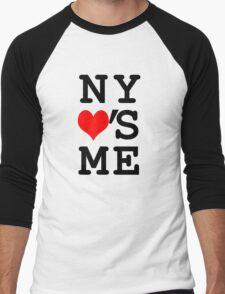 New York Loves Me Men's Baseball ¾ T-Shirt