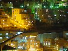 Residential at night by Moshe Cohen
