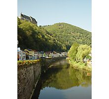 Vienden river and castle Photographic Print