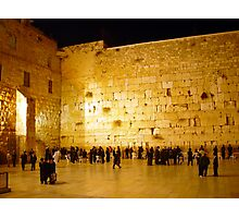 The western wall at night Photographic Print