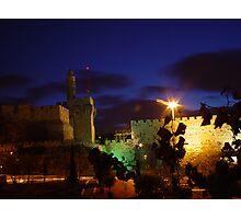 Tower of david at night Photographic Print