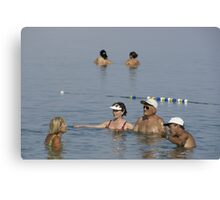 Dead Sea Bathing and Talking Canvas Print