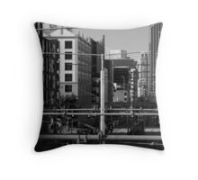 Melbourne Morning Streetscape Number 2 Throw Pillow