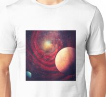 Red Galaxy Unisex T-Shirt
