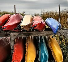 Colourful Canoe's by Annette Blattman