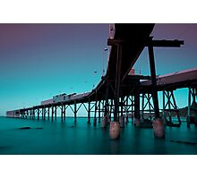 Catherine Hill Bay Night Time Photographic Print