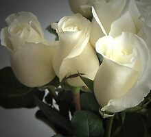 WHITE PAPER ROSES No.2 by Paul Quixote Alleyne
