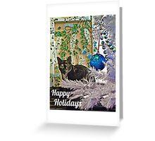 Feline Happy Holidays Greeting Card