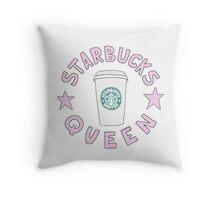 starbucks queen Throw Pillow