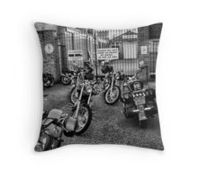 Will the owner of the black Harley Davidson.......... Throw Pillow