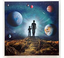Family Space Travel Photographic Print