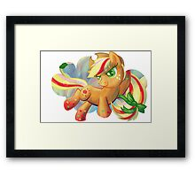 Rainbow Power Applejack Framed Print