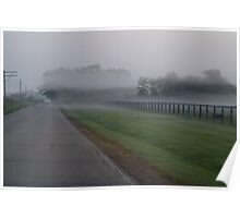 Fog through the Fence Poster