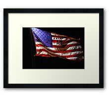 Red, White, Blue, and Black Framed Print