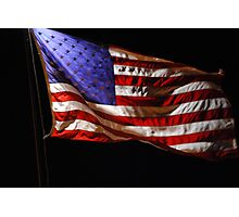 Red, White, Blue, and Black Photographic Print