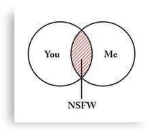 You and Me NSFW Venn Diagram Canvas Print