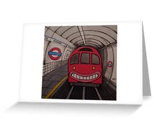 Nowhere Tube Greeting Card
