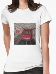 Nowhere Tube Womens Fitted T-Shirt