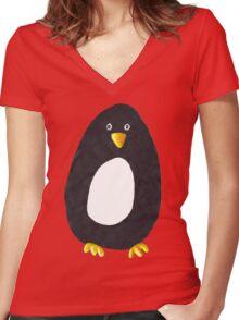 Ben Penguin Women's Fitted V-Neck T-Shirt