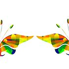 Psychedelic Butterflies by Penny Marcus