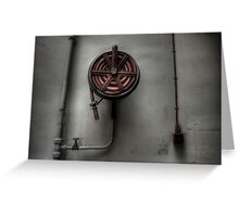 Fire Hose Greeting Card