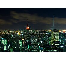 Manhattan At Night Photographic Print