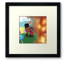 My Little Pyro Framed Print