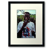 Omar on Ginak Island Framed Print
