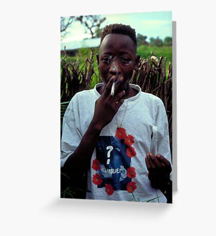 Omar on Ginak Island Greeting Card