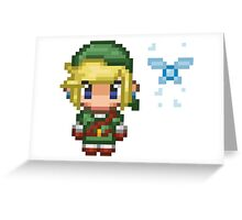 Pixel Link & Navi - Ocarina of Time (without text) Greeting Card