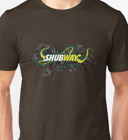 Shubway eat flesh Unisex T-Shirt