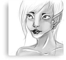 Lady Elf Canvas Print