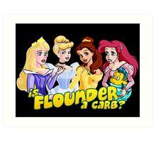 Is Flounder a Carb? Art Print