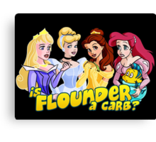 Is Flounder a Carb? Canvas Print