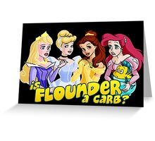 Is Flounder a Carb? Greeting Card