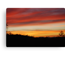 Blue Point Sunsets 10 Canvas Print