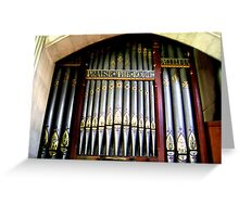 Old Pipe Organ Greeting Card