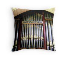 Old Pipe Organ Throw Pillow