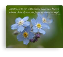 The Forget-Me-Nots of the Angels Greeting Card Quote Canvas Print