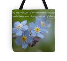 The Forget-Me-Nots of the Angels Greeting Card Quote Tote Bag