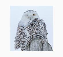 Winking Snowy Owl Unisex T-Shirt