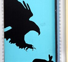 EAGLE CHASE RABBIT  by SofiaYoushi
