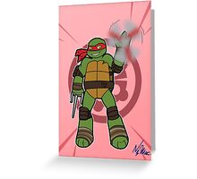 TMNT 2012 - Raph Greeting Card