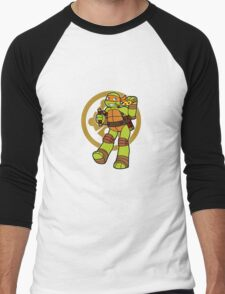 TMNT 2012 - Mikey Men's Baseball ¾ T-Shirt