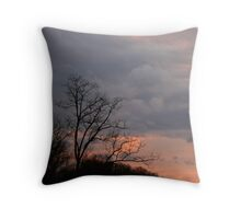 Evening Sky in Kentucky Throw Pillow