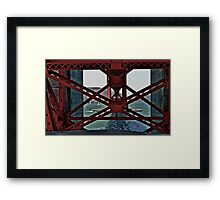 Under The GoldenGate Bridge Looking Toward Marin. Framed Print