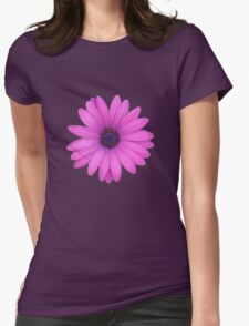 Pink African Daisy Isolated on A Black Background T-Shirt