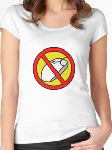 NO COMPUTER MOUSE TRAFFIC SIGN  Women's Fitted Scoop T-Shirt