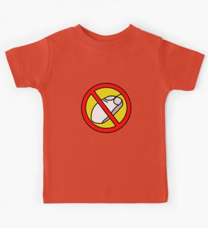 NO COMPUTER MOUSE TRAFFIC SIGN  Kids Tee
