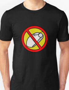 NO COMPUTER MOUSE TRAFFIC SIGN  Unisex T-Shirt